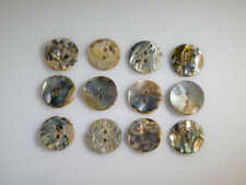 Abalone Buttons 20mm (Set of 12 Mother of Pearl Antiques) Handmade Sewing Crafts