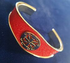 RUSTIC CUFF RARE  Red / Silver STINGRAY  **SOLD OUT** RETAIL $140 retired