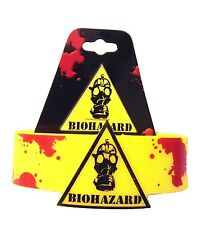 Biohazard Mask Gaming Zombie Yellow PVC Rubber Wristband