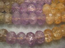 Multi Colored Crystals Faceted 14mm Rondelles Beads 39pcs