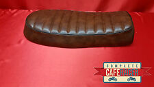 bs8 BRAT / SCRAMBLER STYLE CAFE RACER SEAT FINISHED IN BROWN LEATHERETTE NEW