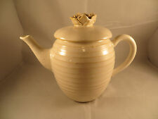 Hallmark Beehive Shaped Ceramic Teapot With Rose Handled Lid - NEW
