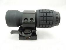 Quick Detach 3X FTS QD Tactical Magnifier Scope & Flip to Side Mount 20mm Rail