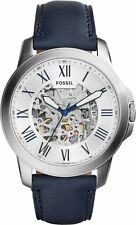 Fossil Original ME3111 Men's Townsman Automatic Navy Leather Watch 44mm