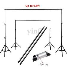 4 Sections Adjustable 3m/9.8ft Background Crossbar Studio Photo Backdrop Support