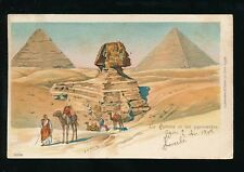 EGYPTE Sphinx Pyramids 1903 chromo-litho used 1903 u/b PPC