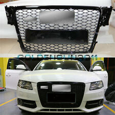 RS4 Front Gloss Black Sline Euro Quattro Grille For Audi A4 S4 B8 8K Avant 09-12