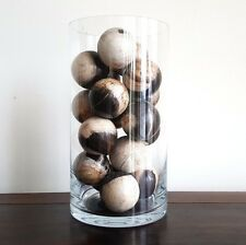 Balls, timber (petrified)(marble like), handmade, small, unique decorative decor