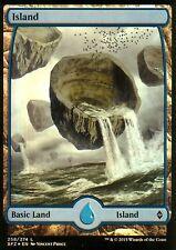 Island foil-versión 4 (full art) | nm/m | Battle for Zendikar | Magic mtg