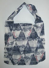 Lot of 3 Free People Small Size Cloth Tote Bag Blue Ivory