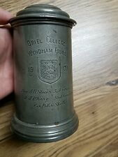 ANTIQUE VICTORIAN PEWTER ROWING TROPHY ORIEL COLLEGE OXFORD UNIVERSITY 1909