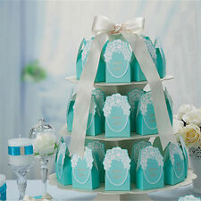 20 Blue Love Wedding Favors Candy Boxes Gift Bags Bridal Marriage Party Decor
