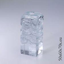 Glas Zweigvase Ingridglas Entwurf Heiner Düsterhaus H=15,3 cm 70s Design # 119