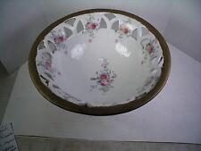 Germany Elfinware Pierced Porcelain Compote applied Floral Decorations