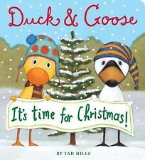 Duck and Goose: It's Time for Christmas! by Tad Hills (2010, Board Book)