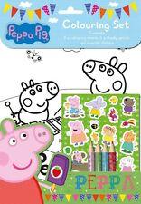 Peppa Pig Malset Kinder Activity Aufkleber Strumpffüller Geschenk