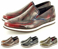 New Mens Casual Formal Slip On Brogue Designer Shoes In UK Sizes 6 7 8 9 10 11
