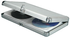 CITRONIC ALUMINIUM 40 CD DVD STORAGE WALLET FLIGHT CASE 127.052 LINED INSIDE