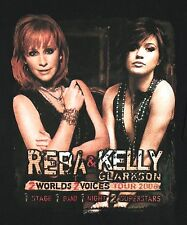 REBA MCENTIRE & KELLY CLARKSON 2 Worlds 2 Voices 2008 Tour 2-Sided T-Shirt XL