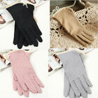 100% Cotton Slip-resistant Thin Short Gloves,Summer Sun-shading Sunscreen Glove