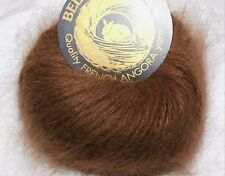 MINK Brown 1 Skein Galler BELANGOR 100% ANGORA Rabbit Fur ULTRA-SOFT Luxury Yarn