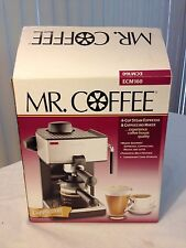 Espresso Machine 4-Cup Steam New Latte Cappuccino Maker Black Mr Coffee Creamy