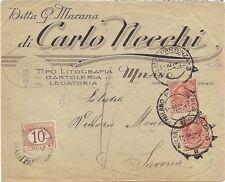 P6015   Milano, Busta commerciale Ditta G.Marana per Savona 1921, tassata c.10