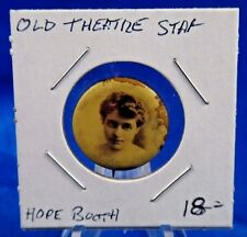 "Hope Booth Theatre Star Old Pin Pinback Button 7/8"" Sweet Caporal Cigarette"