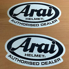 LOT DE 2 AUTOCOLLANTS ARAI DEALER CASQUE STICKERS HELMET BIKE MOTO STICKER