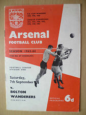 League Division One 1963-ARSENAL v BOLTON WANDERERS, Hand Signed by Team Players