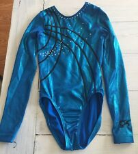 Gk Elite Long Sleeve Gymnastics Leotard Size Adult XS