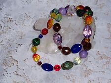 Gorgeous JOAN RIVERS CANDY Bead Necklace with Beautiful Colored Beads  NEW