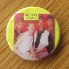 DEPECHE MODE VINTAGE METAL PIN BADGE FROM THE 1980's OLD RETRO