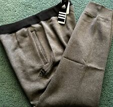 NWT Men Adidas L Dark Gray/Black Everyday Attack Cuffed Sweatpants Large $45