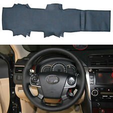 DIY Leather Steering Wheel Cover Custom for Toyota Camry 2012 2013 2014 4-spoke