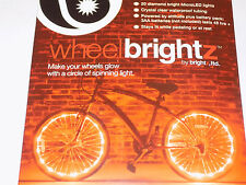 Wheel Brightz 1 RED Light LED Bicycle Bike For 1 Wheel.