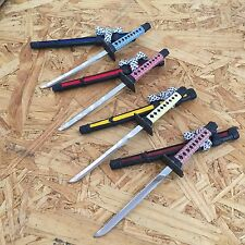 NEW! 4 PC SET Mini Japanese Samurai Sword Letter Opener Gift w/ Display Stands