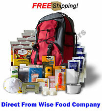 """Wise Food Company Emergency Backpacks, 5 Days Survival Supply """"Red"""""""