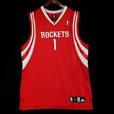 100% Authentic Tracy Mcgrady Tmac Adidas Rockets NBA Jersey Size 48 XL