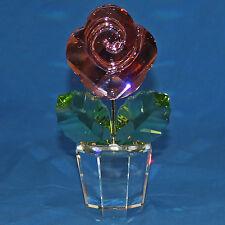 "Swarovski Crystal Figurine , 872196 - Large Pink Rose, 7.5""H - $650 Mint NO BOX"