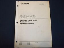 CAT CATERPILLAR 325 L LN EXCAVATOR HYDRAULIC SYSTEM SCHEMATIC MANUAL SENR5407