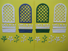 "22 Tonic Die Cut ""Trellis & Flower Boxes"" Embellisments"
