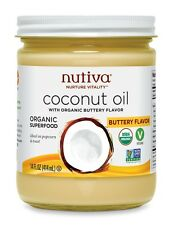 Nutiva Buttery Coconut Oil 14 oz organic vegan butter BCO614G best by 2017-04-13