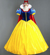 Adult Snow White Princess Cosplay Costume Halloween Fairytale Party Fancy Dress