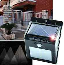 6 x Solar Powered Outdoor LED Garden Fence Wall Patio Lights Solar Lighting