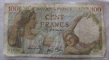 Vieux français 100 cent francs banknote 10-12-1940 wwii vintage rare collector