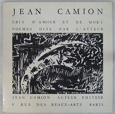 Jean Camion 33 tours Cris d'amour et de mort