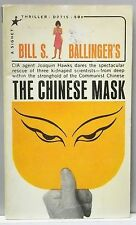 THE CHINESE MASK Bill Ballinger rare 1965 vintage PB Mystery Thriller CIA China