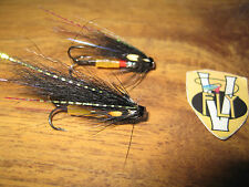 2 V Fly 1/2 Inch Alta Black Mini Templedog Salmon Tube Flies & Trebles