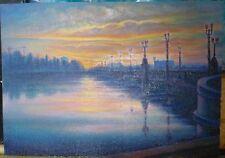 ORIGINAL OIL Painting Hand painted sky Landscape Artwork wall ART decor unique